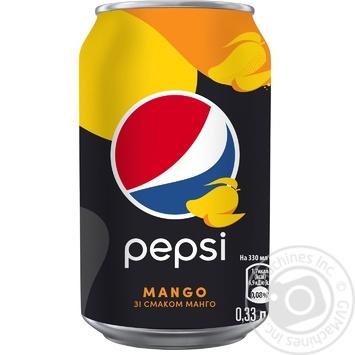 Напиток Pepsi манго 0,33л - купить, цены на Фуршет - фото 1