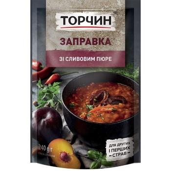 Заправка ТОРЧИН® со Сливовым пюре для первых и вторых блюд 240г - купить, цены на Novus - фото 1