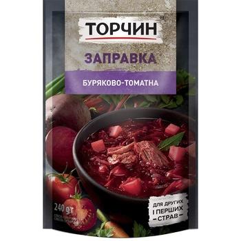 Заправка ТОРЧИН® Буряково-томатна для перших та других страв 240г - купити, ціни на Novus - фото 1