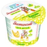Паста сиркова Яготинське для дітей банан з 6 місяців 4,2% 100г