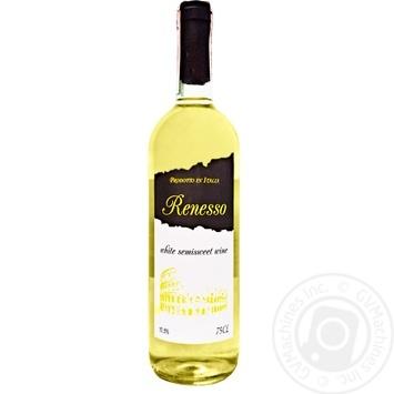 Вино Renesso Vino Bianco Semisweet белое полусладкое 10,5% 0,75л - купить, цены на МегаМаркет - фото 1