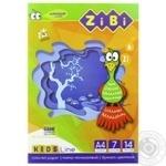 Картон кольоровий ZiBi А4 14арк 7 кольорів в асортименті