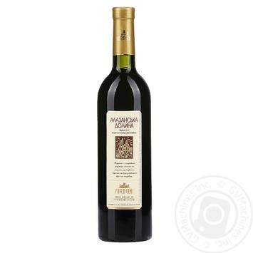 Вино Vardiani Алазанская долина красное полусладкое 9-13% 0,75л - купить, цены на Novus - фото 1