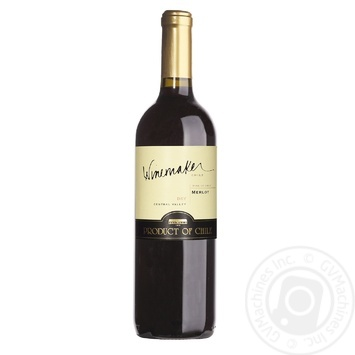 Winemaker Merlot Red Dry Wine 13% 0,75l - buy, prices for Auchan - photo 1