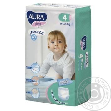 Трусики Aura 4 для детей 9-14кг 43шт - купить, цены на Ашан - фото 1