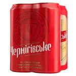 Пиво Чернігівське cвітле 4*0,5л ж/б