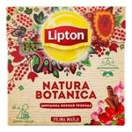 Смесь  плодово-травяных Lipton Natura Botanica с шиповником, гибискусом, корицей и лепестками роз в пакетиках 20х1.8г