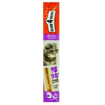 Delicacies Club 4 paws Meat Stick 5g salmon-cod m/y - buy, prices for Auchan - photo 1
