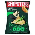 Чипсы картофельные волнистые Chipsters со вкусом Сыр и лук 120г