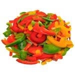 Trio pepper sliced fresh frozen