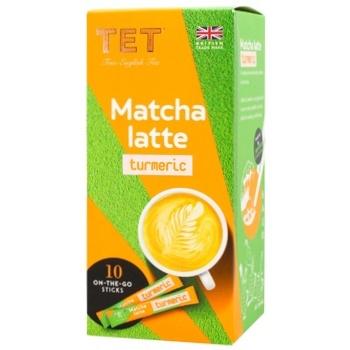 Напиток ТЕТ matcha latte на основе зеленого чая с ароматом куркума-имбирь 10шт*10г - купить, цены на СитиМаркет - фото 1