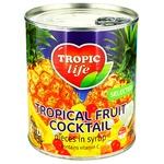 Коктейль тропічний фруктовий Тропік лайф в сиропі 820г