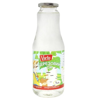 Сік Varto березовий з цукром 1л - купити, ціни на Varus - фото 1