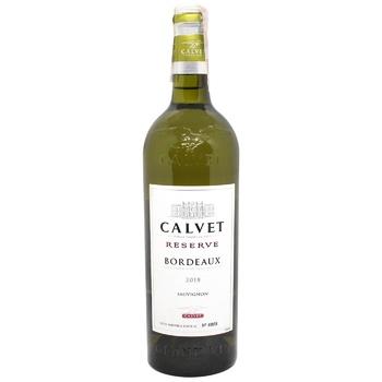 Calvet Bordeaux Rezerve Sauvignon Blanc white dry wine 11,5% 0,75l - buy, prices for CityMarket - photo 1