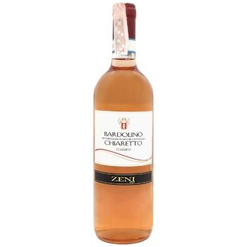 Zeni Bardolino Chiaretto Pink Dry Wine 12.5% 0.75l - buy, prices for CityMarket - photo 1