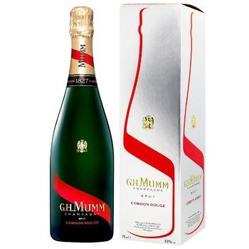 G.H. Mumm Cordon Rouge Brut Champagne 12% 0,75l - buy, prices for CityMarket - photo 1