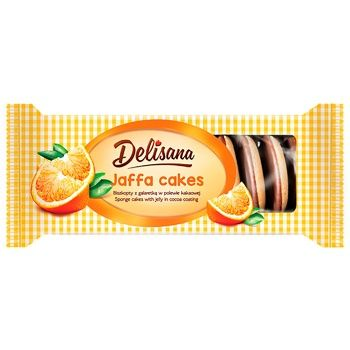 Delisana Cookies with Orange Flavor and Jelly in Cocoa Biscuit 135g - buy, prices for CityMarket - photo 1