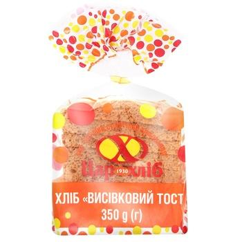 Хліб Цар Хліб Висівковий тост упакований нарізаний 350г