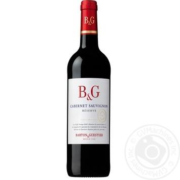 Вино Barton & Guestier Каберне Совиньон Резерв красное сухое 13,5% 0,75л - купить, цены на Novus - фото 1