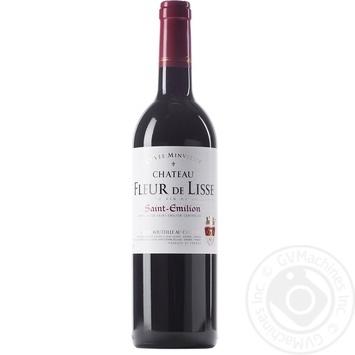 Вино GVG Chateau Fleur de Lisse Saint-Emilion красное сухое 12% 0.75л - купить, цены на Novus - фото 1