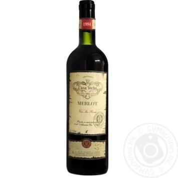 Вино Casa Veche Merlot красное сухое 11-13% 0,75л - купить, цены на Novus - фото 1