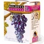 Вино Alianta Vin Изабелла красное полусладкое bag-in-box 11% 3л
