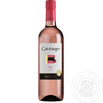 Вино Gato Negro Rose розовое сухое 13,4% 0,75л