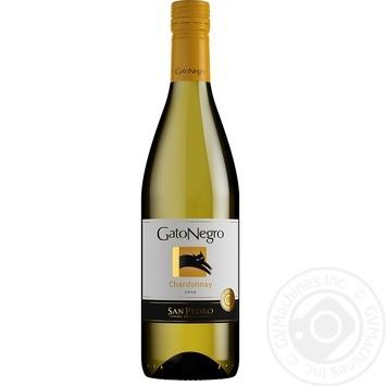 Вино Gato Negro Шардоне белое сухое 13,5% 0,75л - купить, цены на Novus - фото 1