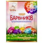 Набір барвників Добрик для великодніх яєць 7 кольорів 21г
