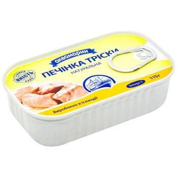 Печень трески Аквамарин натуральная 115г - купить, цены на Ашан - фото 2