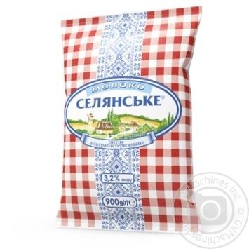 Молоко Селянське ультрапастеризованное 3.2% 900г - купить, цены на Novus - фото 1