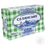 Selianske Dairy butter sweet cream 63% 200g - buy, prices for MegaMarket - image 1