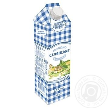 Selianske Osoblyve Ultrapasteurized Milk 2.5% 950g