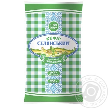 Кефір Селянський 1% 900г - купити, ціни на Метро - фото 1