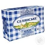 Масло Селянське сладкосливочное 72,5% 200г - купить, цены на Фуршет - фото 1