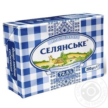 Selianske Creamy-Sweet Butter 72.5% 200g - buy, prices for Furshet - image 1