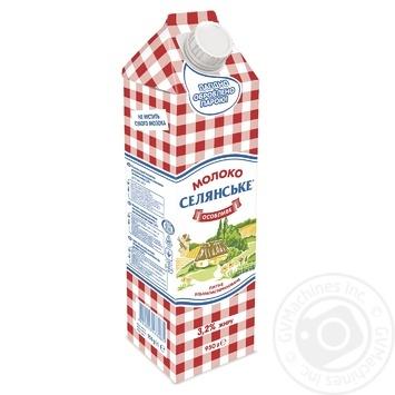 Молоко Селянське Особенное ультрапастеризованное 3.2% 950г - купить, цены на Восторг - фото 1