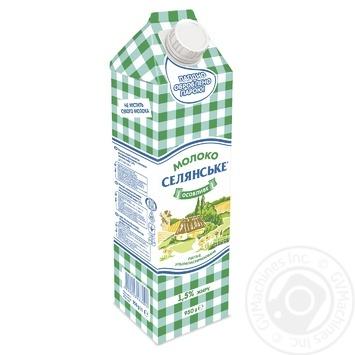 Молоко Селянське Особенное ультрапастеризованное 1.5% 950г - купить, цены на Восторг - фото 1