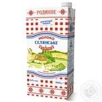 Молоко Селянське Родинне Особое ультрапастеризованное 3,2% 2000г - купить, цены на Novus - фото 1