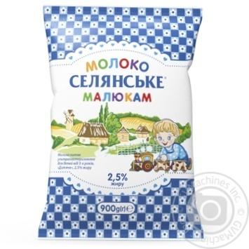Молоко Селянське Малышам ультрапастеризованное 2.5% 900г - купить, цены на Восторг - фото 2