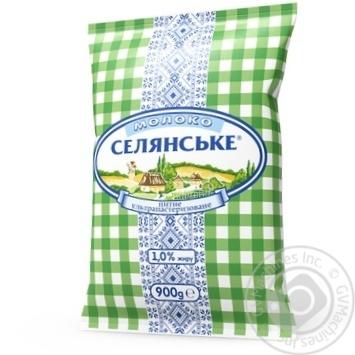 Молоко Селянське ультрапастеризованное 1% 900г - купить, цены на Восторг - фото 1