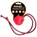 Игрушка AnimAll Fun шар с канатом коралловое 4см