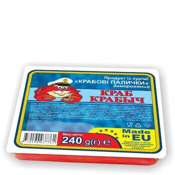 Крабові палички Краб Крабич імітація з сурімі заморожені 240г - купити, ціни на Ашан - фото 1