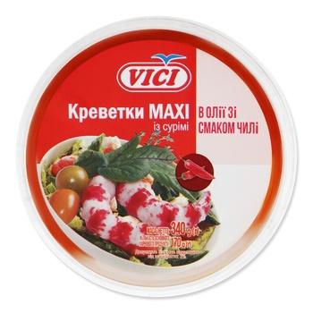 Креветки Vici Maxi из сурими в масле со вкусом чили 340г
