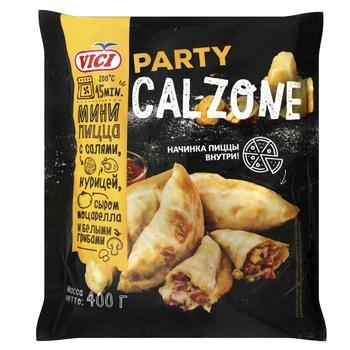 Пицца-мини Vici Calzone с салями курицей, моцареллой и грибами 400г