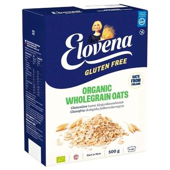 Пластівці вівсяні Elovena органічні з цільного зерна 500г