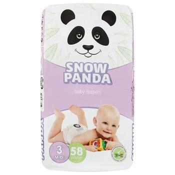 Подгузники Snow Panda 3 Midi 4-9кг 58шт - купить, цены на Восторг - фото 1
