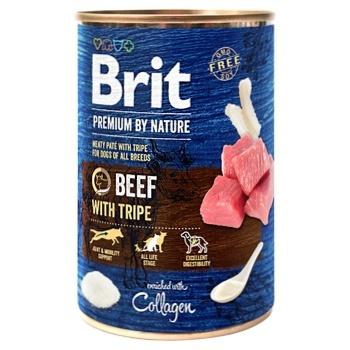 Влажный корм для собак Brit Premium By Nature Beef with Tripe говядина 800г - купить, цены на Ашан - фото 1