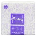 Салфетки Fantasy столовые бумажные белые 1 слой 50шт - купить, цены на Фуршет - фото 1