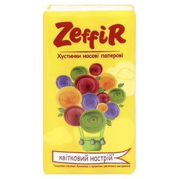 Хустинки Zeffir Квітковий настрій  паперові 10шт - купити, ціни на МегаМаркет - фото 1